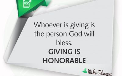 GIVING IS HONORABLE